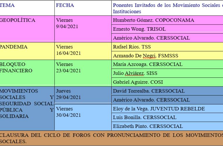 Analisis y acciones desde los movimientos de seguridad social